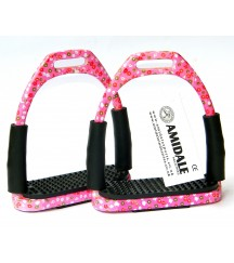 Flexi Stirrups Pink Base Floral