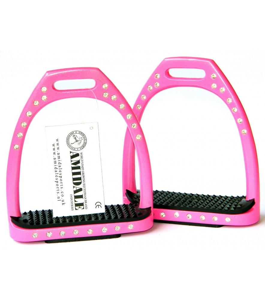 Aluminum Diamonte Pink