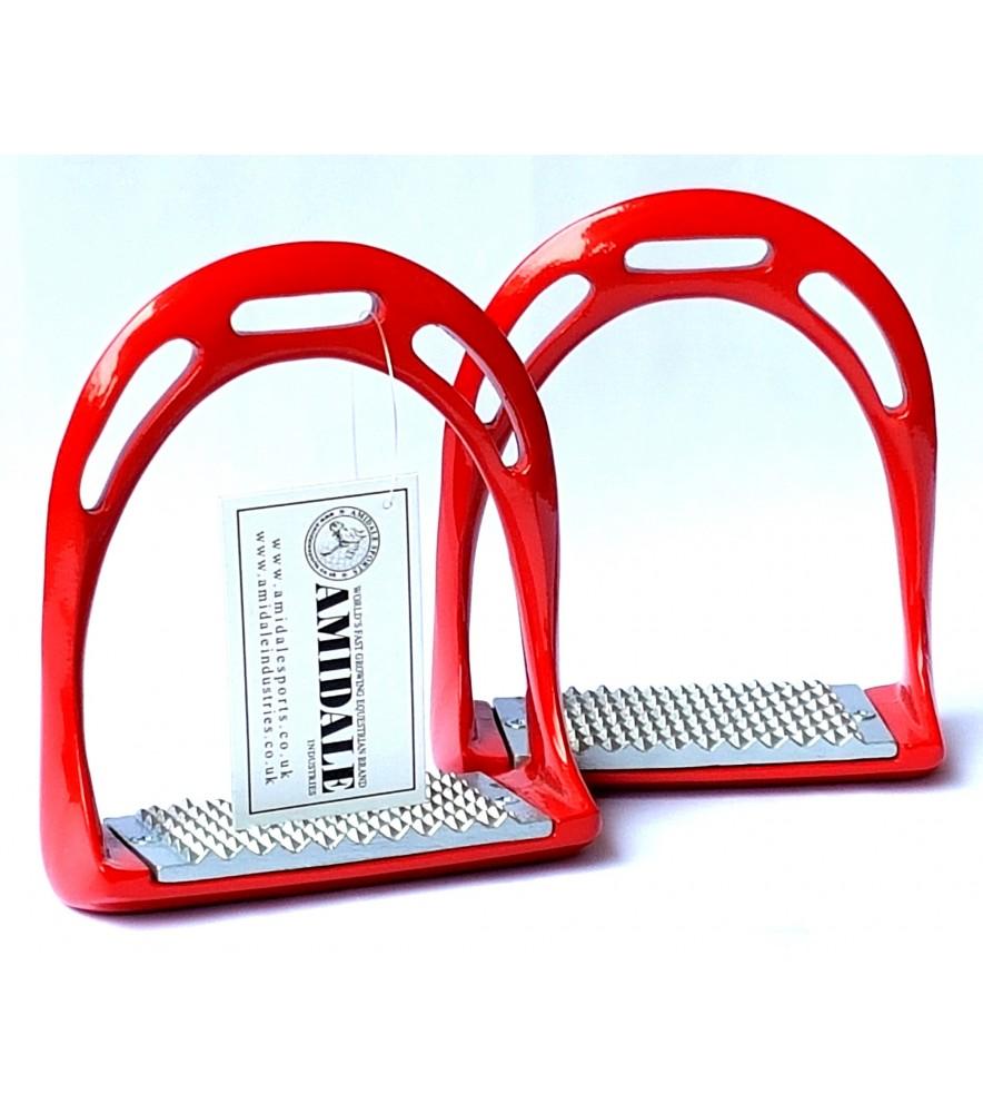 Aluminum Stirrup New Red